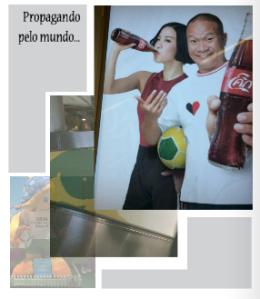 Publicidade da copa na Asia